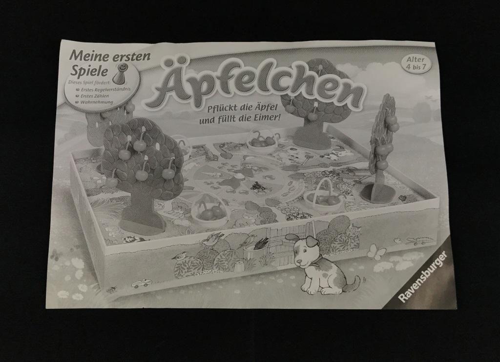 Spieletipp Äpfelchen von Ravensburger, Material
