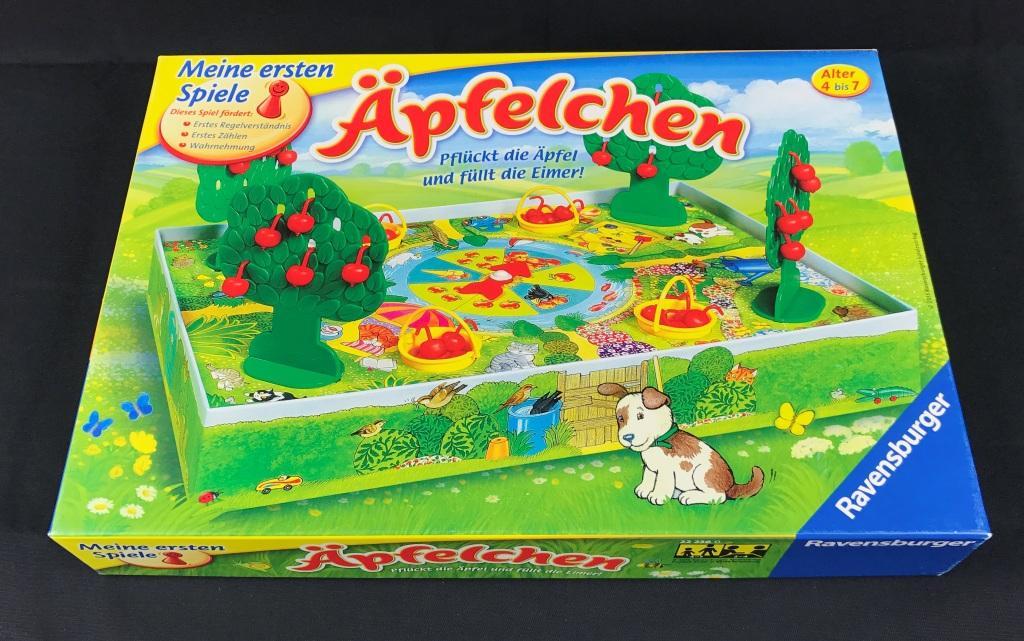 Spieletipp Äpfelchen von Ravensburger, Schachtel
