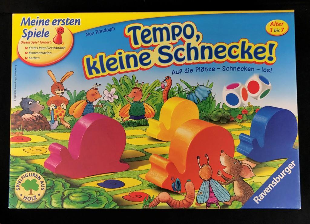 """Spieletipp: """"Tempo, kleine Schnecke!"""" von Ravensburger, Schachtel"""