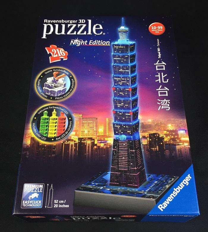 3D Puzzle Taipei 101 bei Nacht von Ravensburger Schachtel