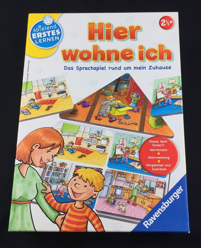 """Spieletipp """"Hier wohne ich"""" von Ravensburger, Schachtel"""