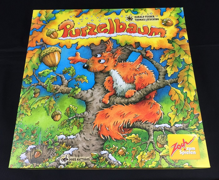 "Spieletipp ""Purzelbaum"" aus dem Zoch Verlag, Schachtel"