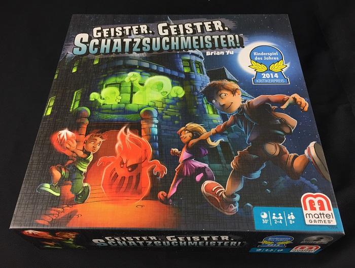 Geister, Geister, Schatzsuchmeister von Mattel, Schachtel
