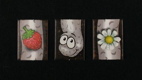 """Spieletipp: """"Da ist der Wurm drin"""" von Zoch, Wurm mit Erdbeere und Gänseblümchen"""