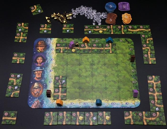 Spieletipp: Karuba von HABA, Abenteurer vorwärts ziehen