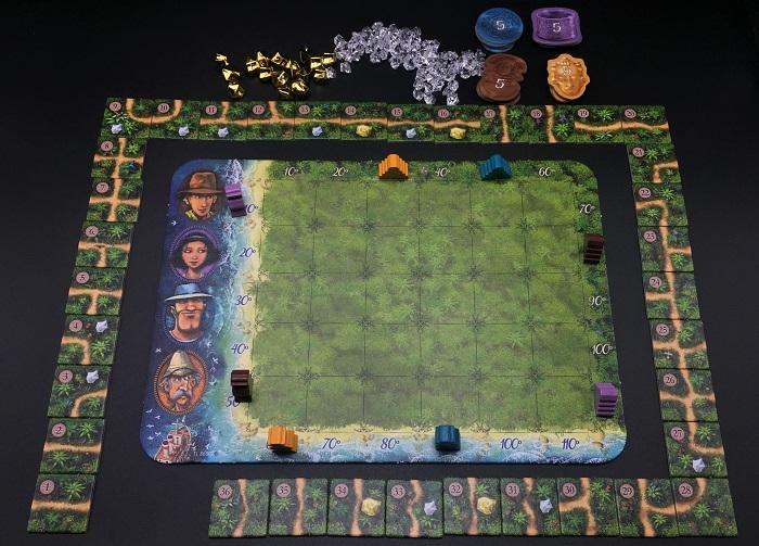 Spieletipp: Karuba von HABA, Spielaufbau