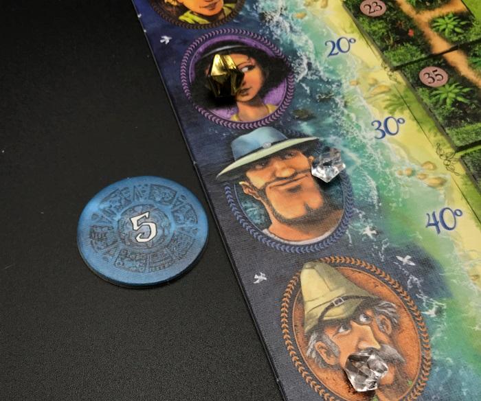 Spieletipp: Karuba von HABA, Tempelschatz gewonnen