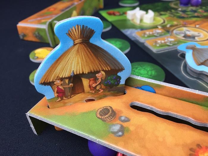 """Spieletipp: """"Stone Age Junior"""" von Hans im Glück, Hüttenplättchen gewonnen"""