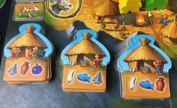 """Spieletipp: """"Stone Age Junior"""" von Hans im Glück, Hüttenplättchen"""