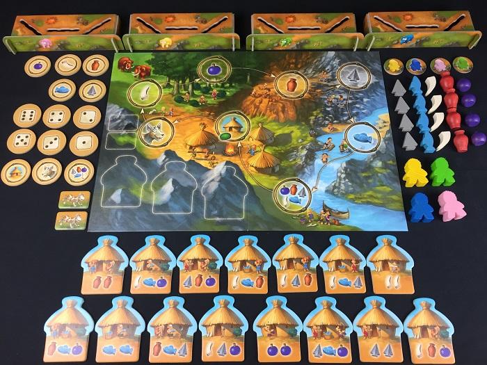 """Spieletipp: """"Stone Age Junior"""" von Hans im Glück, Material"""