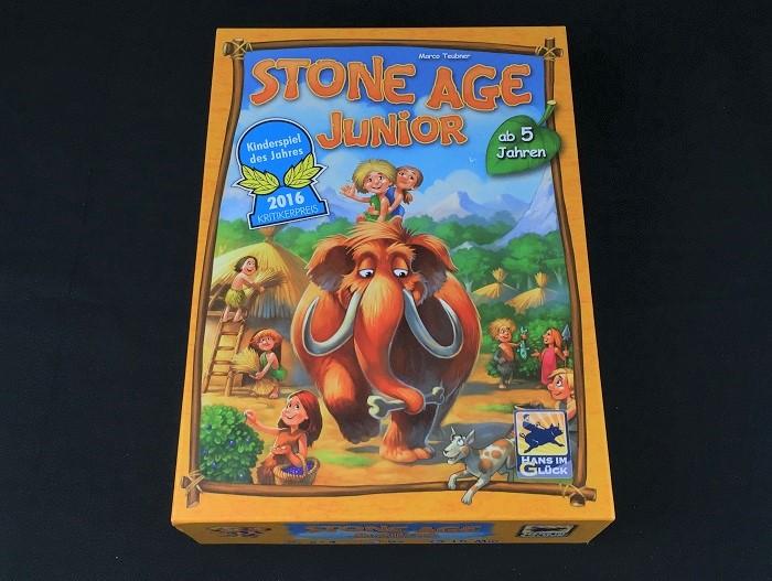 """Spieletipp: """"Stone Age Junior"""" von Hans im Glück, Schachtel"""