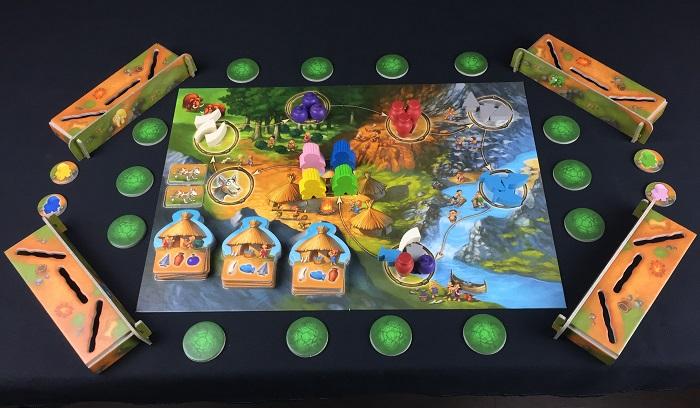 """Spieletipp: """"Stone Age Junior"""" von Hans im Glück, Spielaufbau"""