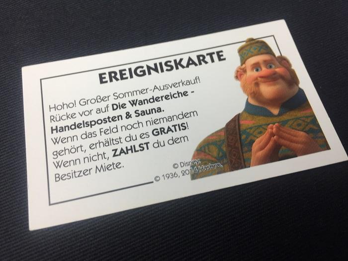 """Spieletipp: """"Monopoly Junior - Die Eiskönigin"""" von Hasbro, Ereigniskarte"""