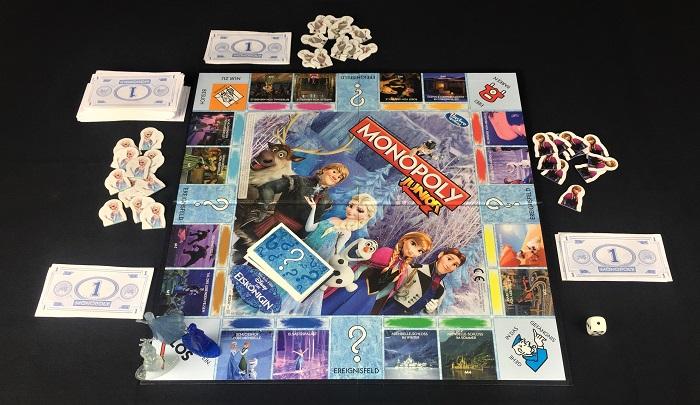 """Spieletipp: """"Monopoly Junior - Die Eiskönigin"""" von Hasbro, Spielaufbau"""